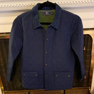 Boys Vineyard Vines navy quilted jacket, sz L (16)